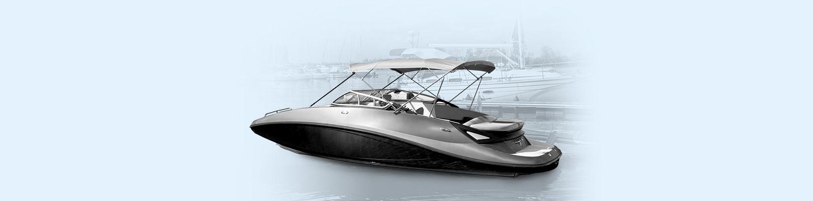Un bateau à jet