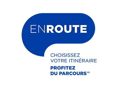 Logo bleu En Route sur fond blanc