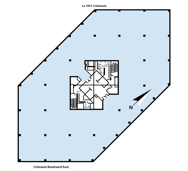 Le 1611 Crémazie floor plan