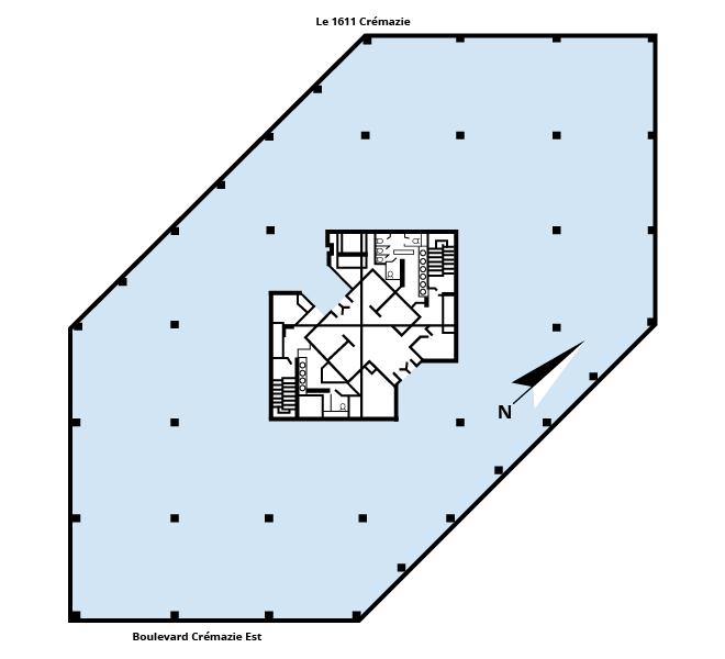 Plan d'étage Le 1611 Crémazie