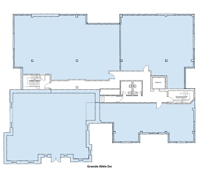 Plan d'étage Le 333 Grande Allée Est