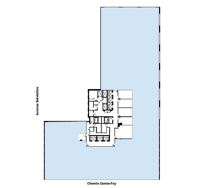 Plan d'étage Édifices Bois Fontaine (880)