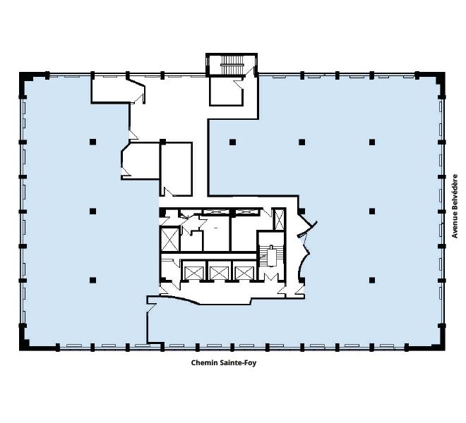 Plan d'étage Édifices Bois Fontaine (930)