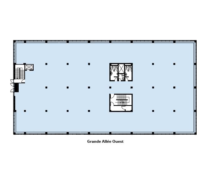 Plan d'étage Le 1091 Grande Allée Ouest