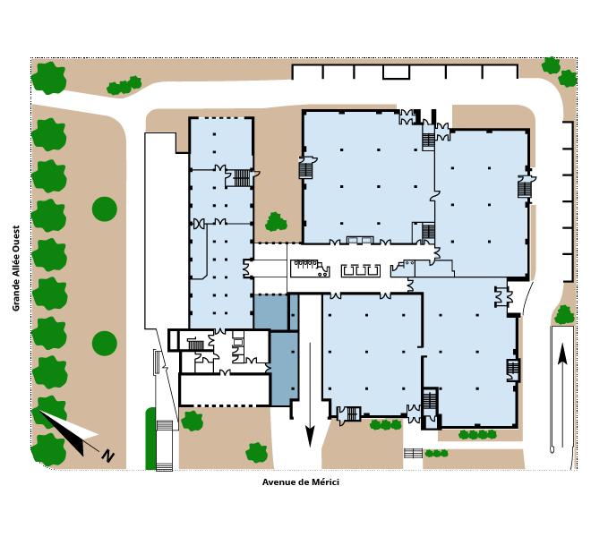 Plan d'étage Le 925 Grande Allée Ouest