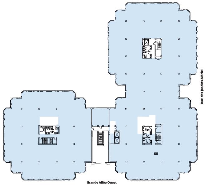 Plan d'étage Édifice Mérici