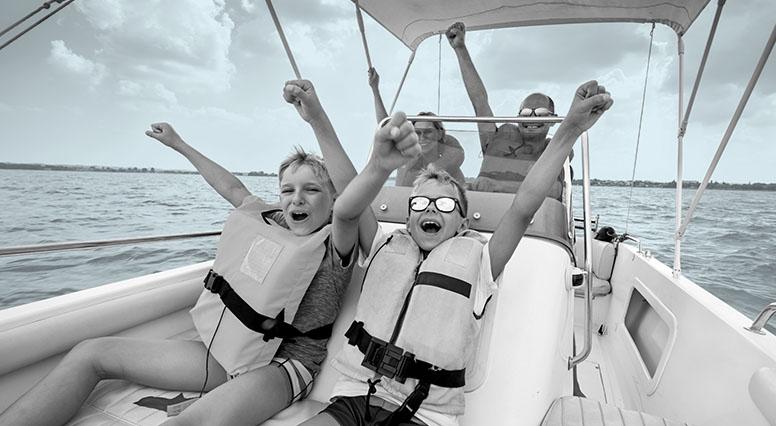 A group enjoying their boat trip